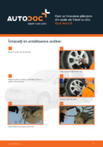 Cum se înlocuiesc plăcuțele din spate ale frânei cu disc Opel Astra G