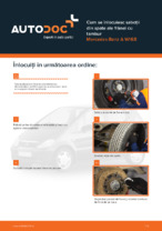 Cum se înlocuiesc saboții din spate ale frânei cu tambur Mercedes-Benz A W168