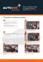 Cum se înlocuiesc saboții din spate ale frânei cu tambur RENAULT CLIO II