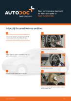 Cum se înlocuiesc tamburii de frână din spate la FIAT PUNTO 188