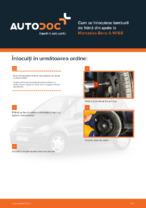 Cum se înlocuiesc tamburii de frână din spate la Mercedes-Benz A W168