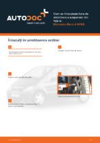 Cum se înlocuiește bara de stabilizare a suspensiei din față la Mercedes-Benz A W168