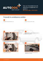 Cum se înlocuiește bara de stabilizare a suspensiei din spate la Mercedes-Benz 190 W201