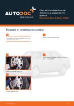 Cum se înlocuiește bara de stabilizare a suspensiei din spate la Mercedes-Benz C-Class W202