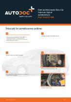 Cum se înlocuiește discul de frână din față al automobilului FIAT PUNTO 188