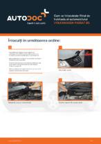 Cum se înlocuiește filtrul de habitaclu al automobilului VOLKSWAGEN PASSAT B5