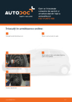 Cum se înlocuiește rulmentul de sarcină al amortizorului din față la autovehiculul FIAT PUNTO 188