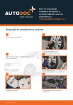 Cum se înlocuiește rulmentul de sarcină al amortizorului din spate la autovehiculul VOLKSWAGEN PASSAT B6