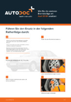 AUDI-Reparaturanleitung mit bildlichen Darstellungen