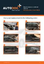 Workshop manual for MERCEDES-BENZ VIANO online
