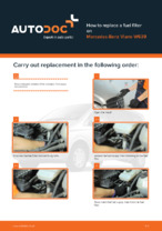 Workshop manual for MERCEDES-BENZ VIANO online