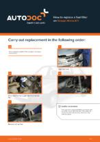 Workshop manual for NISSAN MICRA online