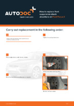 DIY manual on replacing FORD FOCUS Shock Absorber