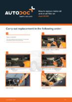 Workshop manual for AUDI 80 online