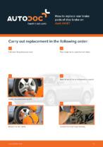 Workshop manual for AUDI A4 online