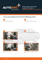 DIY manual on replacing MERCEDES-BENZ C-Class Brake Pads