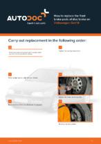 DIY manual on replacing VW GOLF Brake Pads