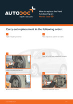 DIY manual on replacing HONDA JAZZ Wheel Bearing