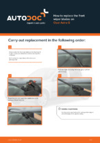 DIY manual on replacing OPEL ASTRA Wiper Blades