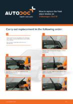 DIY manual on replacing VW GOLF Wiper Blades