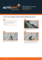 DIY manual on replacing VW TRANSPORTER Wiper Blades