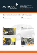 DIY manual on replacing TOYOTA YARIS Control Arm