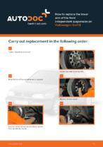 DIY manual on replacing VW GOLF Control Arm