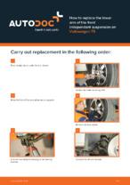 DIY manual on replacing VW TRANSPORTER Control Arm