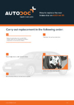 DIY manual on replacing AUDI A4 Brake Discs