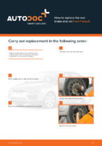 DIY manual on replacing FORD FOCUS Brake Discs