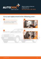 DIY manual on replacing MERCEDES-BENZ 190 Brake Discs
