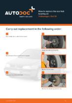 DIY manual on replacing VW GOLF Wheel Bearing