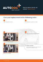 Workshop manual for TOYOTA PRIUS online