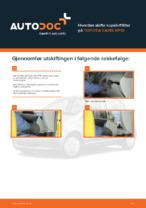 TOYOTA-reparasjonshåndbøker med illustrasjoner
