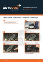 PEUGEOT-reparasjonshåndbøker med illustrasjoner