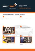 MERCEDES-BENZ-handbok för reparationer med illustrationer