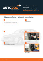 MERCEDES-BENZ-reparationsmanualer med illustrationer