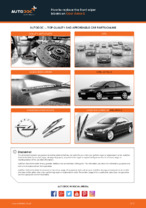 How to replace the front wiper blades on Opel Astra G