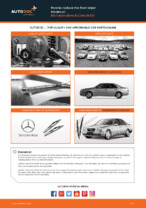 DIY MERCEDES-BENZ change Wiper blades front and rear - online manual pdf