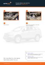 DIY manual on replacing Stabiliser link HONDA CR-V III (RE)