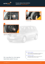 Step by step PDF-tutorial on RENAULT SCÉNIC Anti Roll Bar Links replacement