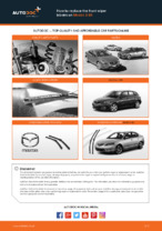 Replacing Window wipers MAZDA 3: free pdf