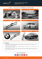 How to replace the front wiper blades on BMW 3 E36