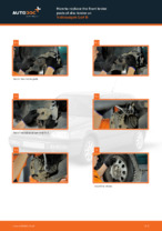 VW GOLF III Cabriolet (1E7) change Brake Pads rear and front: guide pdf