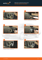 PDF guide för byta: Bromsok MERCEDES-BENZ E-klass Sedan (W210) bak och fram
