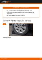 Hur man byter ut krängningshämmaren på Volkswagen Golf V (1K)