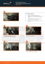 Hvordan skifte fremre bremseklosser på skivebrems på BMW 3 E36