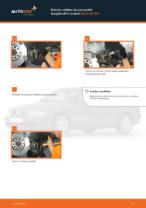 Kuinka vaihtaa etujarrupalat levyjarruihin autoon AUDI A4 В5