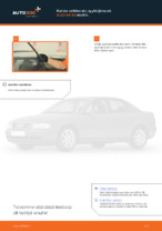 Kuinka vaihtaa etu pyyhkijänsulat AUDI A4 В5 malliin.