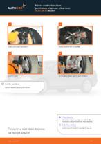 Kuinka vaihtaa itsenäisen jousituksen etupuolen ylätukivarsi AUDI A4 В5 malliin